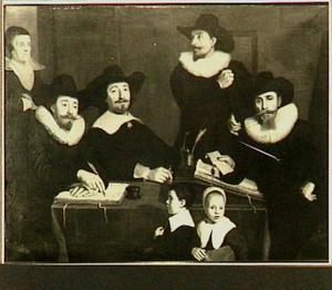 Regenten van het Walenweeshuis te Amsterdam, ca 1641/42