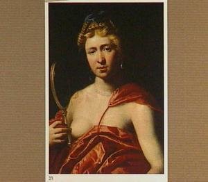 Jonge vrouw met spiegel: allegorie op het Gezicht