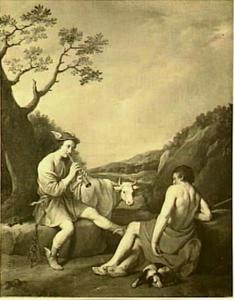 Mercurius laat Argus inslapen door zijn muziek