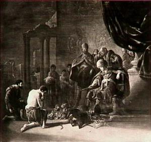 De Egyptenaar wordt voor David gebracht (1 Samuel 30:11-16)