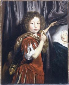 Dubbelportret van een onbekende jongen en een baby