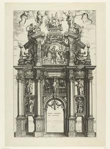 De achterzijde van de triomfboog van Filips IV (Pompa Introitus Ferdinandi)