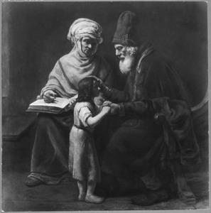 Hanna draagt Samuel over aan Eli (1 Samuel 3:1-4)