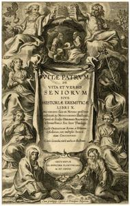 Titelpagina voor H. Rosweyde, Vitae Patrum, Antwerpen 1628