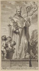 Fantasieportret van de heilige Fredericus (....-1175)