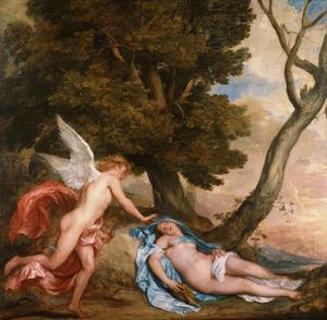 Amor wekt Psyche uit haar doodsslaap