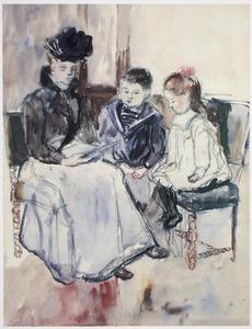 Jan en Louise Singels met kinderjuffrouw