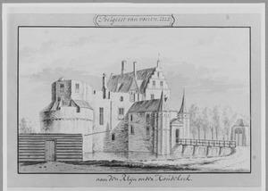 Linker- en voorzijde van Groot Poelgeest in Koudekerk aan den Rijn