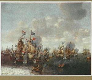 De vierdaagse zeeslag (1/4-06-1666); episode uit de Tweede Engelse Zee-oorlog (1665-1667)