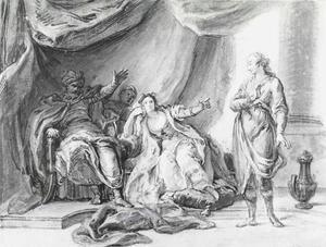 Jozef vals beschuldigd door de vrouw van Potifar