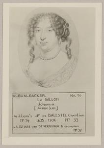 Portret van Johanna le Gillon (1635-1706)