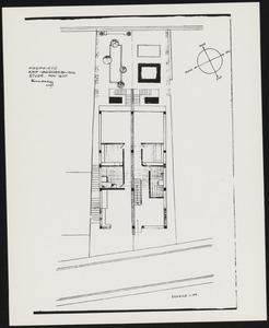 Plattegrond soutterain dubbelhuis Arp-Van Doesburg