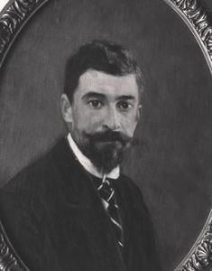 Portret van Nicolaas Voorhoeve (1879-1927)
