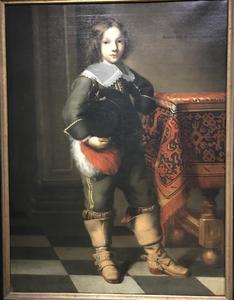 Portret van een zevenjarige jongen