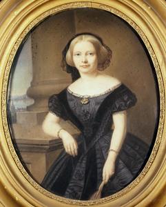 Portret van waarschijnlijk Constance Sophie Suzette van der Duyn (1835-1894)