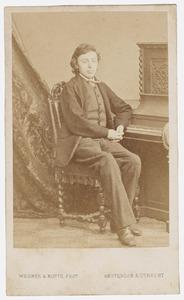 Portret van Johannes Jacob de Vries (1852-1870)