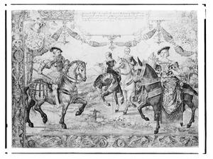 Hendrik III van Nassau (1483-1538) met zijn echtgenote Mencia de Mendoza (1508-1554) en twee overleden echtgenotes