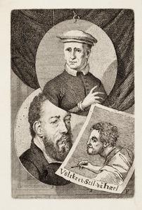Portretten van Lambert Suavius (...-1567), Volckert Claesz. (....-....) en Dirck Jacobsz. (....-1567)