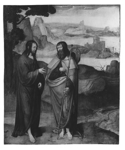 Christus in gesprek met een pelgrim