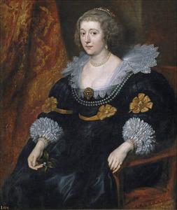 Portret van Amalia van Solms-Braunfels (1602-1675), prinses van Oranje-Nassau