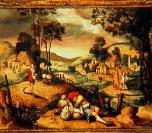 De parabel van de duivel, die tares zaait onder het koren