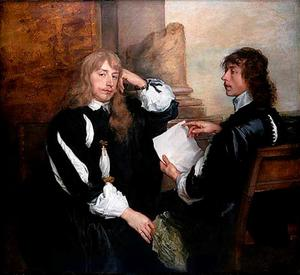Dubbelportret van Thomas Killigrew (1612-1683) en mogelijk William, Lord Crofts (?-1677)