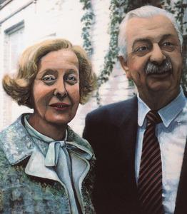 Portret van David Eckhart (1926-?) en zijn vrouw