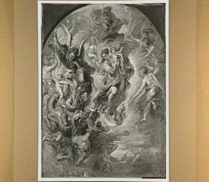 De Madonna als de apokalyptische vrouw op de maan