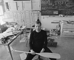 Gijs Müller in zijn atelier