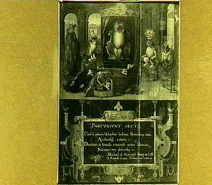 Allegorie op de gerechtelijke moord op Johan van Oldenbarnevelt