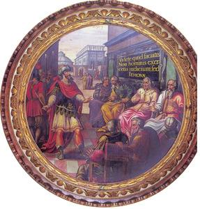 Koning Josafat bij de aanstelling van rechters (2 Kronieken 19:5-6)