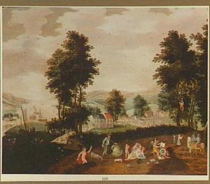 Landschap met een allegorie van de effecten van de Spaanse overheersing in de Nederlanden tijdens de jaren 1565-1575
