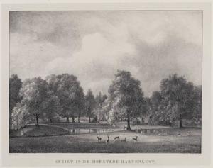 Hofstede Hartenlust vanaf de hertenkamp gezien