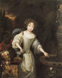 Portret van een onbekend meisje met een bediende