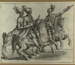 Drie geharnaste ridders