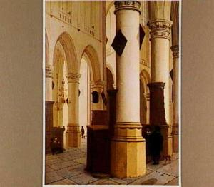 Kerkinterieur (Oude Kerk, Delft?)