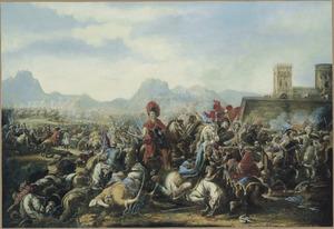Ruitergevecht tussen Oostenrijkse keizerlijke troepen en Turken