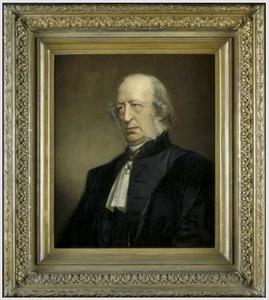 Portret van prof. J. (Jan) van Geuns (1808-1880)