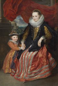 Dubbelportret van Suzanna Fourment (1599-1628) en haar dochter Clara del Monte (1618-?)