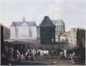 Gezicht op de Dam te Amsterdam