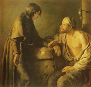 Jozef legt de droom van de bakker uit (Genesis 40:16-19)