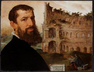 Zelfportret van Maarten van Heemskerck (1498-1574)