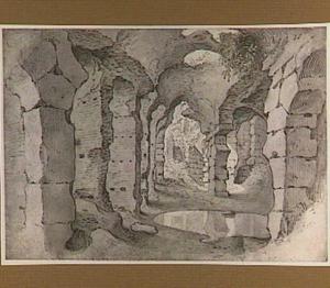 Gezicht in de ruïnes van het Colosseum in Rome
