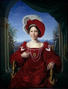 Portret van Auguste van Pruisen (1780-1841), Kurprinzessin van Hessen-Kassel