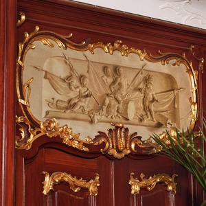 Allegorie op de krijgsraad van de vier compagniën van de stad