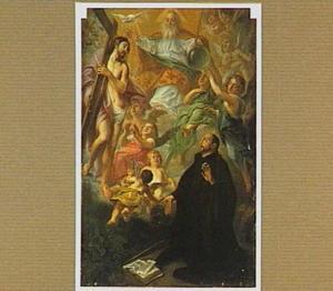 De H. Dominicus aanschouwt de H. Drieëenheid in een visioen