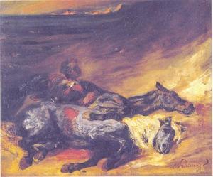 De nacht na de slag bij Waterloo