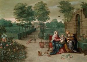 Maria met kind en Sint Anna in een parklandschap