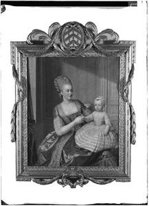 Portret van Cornelia Hillegonda des Villates (?-1802) en Francona Antoinetta Coenradina Pauw (1775-1846)