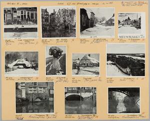 Blad met 11 etsen van W. Witsen uitgegeven door de kunsthandel E.J. van Wisselingh & Co
